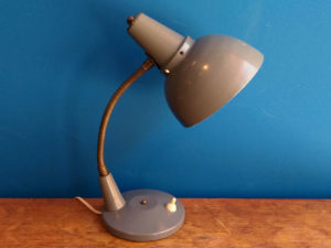 Grey Gooseneck Adjustable Table & Desk Bauhaus Lamp