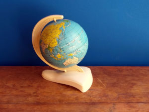 Space Age-Vintage Tin Globe, West Germany