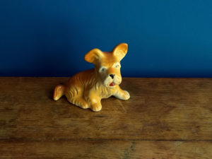 Vintage Small Ceramic Dog Figurine