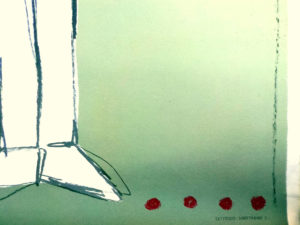 """Αφίσα Από Έκθεση Γελοιογραφίας Στο Καλλιτεχνικό Κέντρο """"ΩΡΑ¨,1970 Του Γ.Λογοθέτη."""