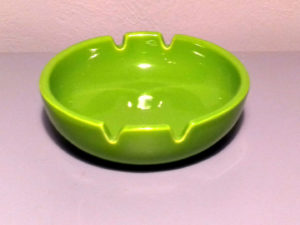 Green Ceramic Ashtray