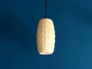 Vintage Milk Opaline Glass Pendant Lamp