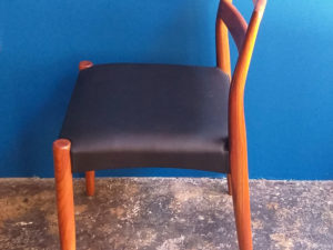 Scandinavian Mid Century Dinning Chairs, Set Of 2