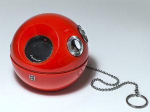Red Panasonic Model R-70 Ball Radio