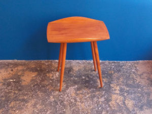 Vintage Mid Century Side Table With Raised Edges