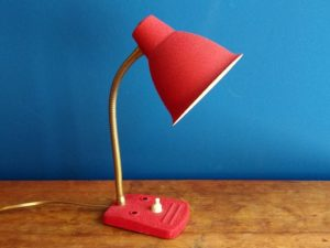 Retro Gooseneck Small Table Lamp, '50s
