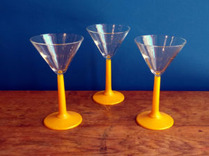 Wine Glasses With Yellow Base