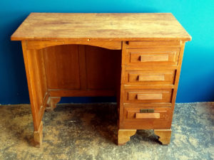 Vintage Wooden Desc, Mid Century