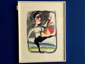 Framed, Limited & Signed Silkscreen From Greek Painter Dimitris Mitaras(1934-2017)