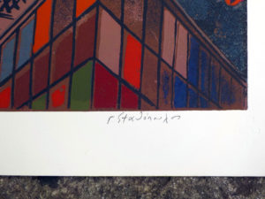 Limited, Numbered & Signed Silkscreen By Greek Artist G. Stathopoulos