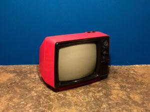 Vintage Κόκκινη Sanyo 12-T224U TV
