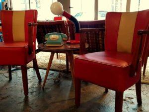 Retro Καρέκλες Καθιστικού-Κουζίνας Με Δερματίνη