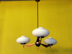 Mid Century Three-Light Ceiling Lamp