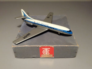 Air France FB NHH Tin Plane Toy By TIPPCO Germany, 60's