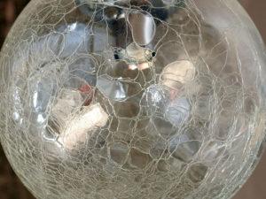 Vintage Φωτιστικό Οροφής Γυάλινη  Μπάλα Κρακελέ