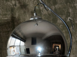 Space Age Glass Globe Hanging Lamp