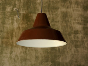 """Γνήσιο Δανέζικο """"Polo"""" Καφέ Φωτιστικό Οροφής Της Nordisk Solar Company '70ς"""