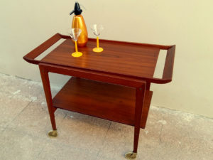 Danish Original Teak Trolley-Bar By Peter Hvidt & Orla Molgaard Nielson '60s