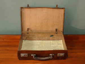 Vintage Small Leather Suitcase