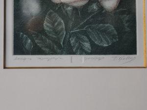 Π. Γράββαλος (1933- 2014), Δοκίμιο Χαλκογραφία Τριαντάφυλλο.