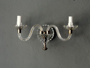 Set Of 2 Vintage Murano Glass Wall Sconces