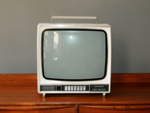 Vintage White Grundig Triumph 1712UE TV