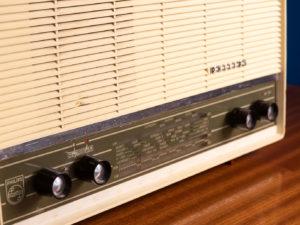 Philips Red Tube Vintage Radio