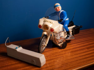 Greek Vintage Toy From LYRA, Moto Police 500