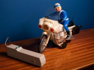 Παλαιό Ελληνικό Παιχνίδι LYRA, Μoto Police 500 Στο Κουτί Του