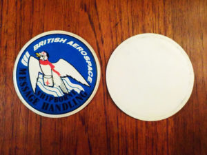 Pair Of Vintage Coasters, British Aerospace Shipborne Message Handling