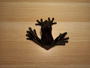 Black Ceramic Frog For Decor