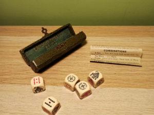 Lanson Pere & Fils Διαφημιστικό Vintage Παιχνίδι Πόκερ Ζαριών