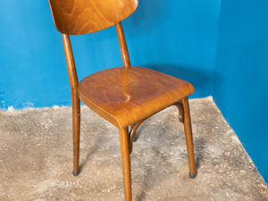 "Vintage Τετράδα Καρέκλες Τραπεζαρίας ""Made In Czechoslovakia"""