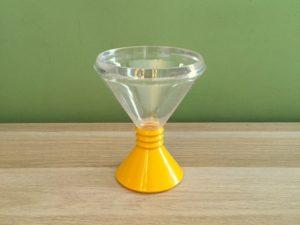 Set Of 6 Plastic Ice Cream Vintage Glasses