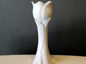 Danish Sodahl, White, Mid Century Modern Vase