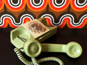 GTE Vintage Working Rotary Green Phone