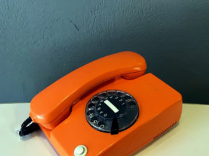 Retro Rotary Orange Siemens Phone