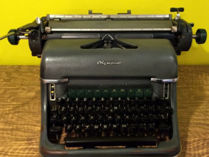 Vintage Olympia Typewriter With Greek Characters