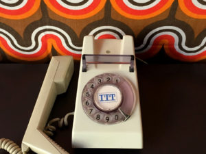 Λευκό Λειτουργικό Space Age Τηλέφωνο ΙΤΤ