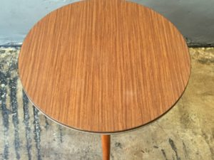 Round Formica Mid Century Side Table