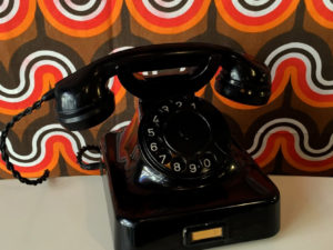 Μαύρο Λειτουργικό Τηλέφωνο Από Βακελίτη