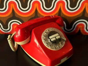 Red Vintage Rotary Phone