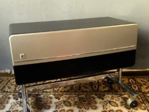 Rare Original Grundig TV Stand With Wheels