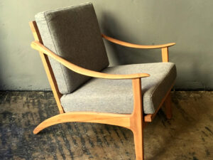 Mid Century Scandinavian Armchair In Style Of Arne Hovmand Olsen