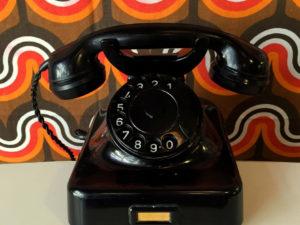 Black Bakelite Vintage Phone