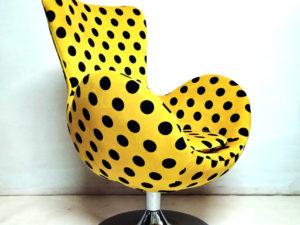 """Μοναδική Αναπαλαιωμένη Vintage ¨EGG"""" Πολυθρόνα"""