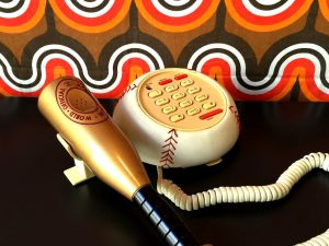Boxed Retro Baseball Theme Phone BB-323S