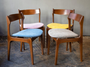 Mid Century Danish Dining Chairs In Erik Buck Design, Set of 4