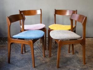 4 Καρέκλες Τραπεζαρίας-Καθιστικού Δανέζικες Σε Σχέδιο Erik Buck