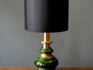 Vintage Porcelain And Metal Table Lamp Light